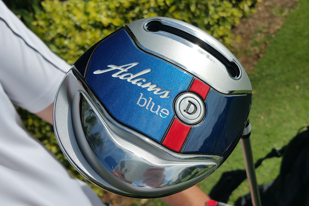 The Adams Golf Blue driver was apologetically game improvement.