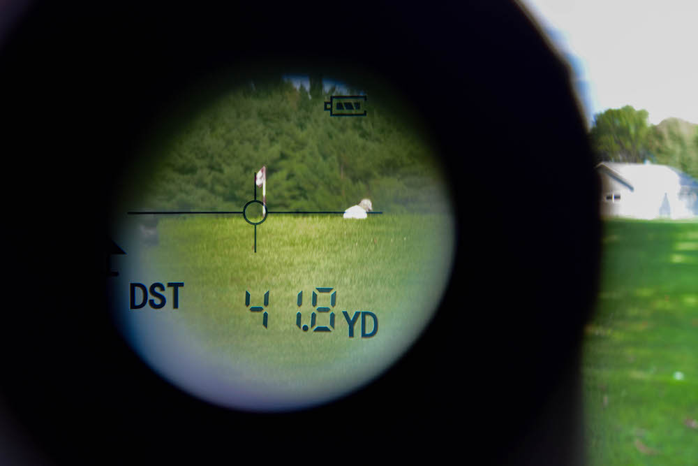 Looking through a rangefinder rather than a GPS