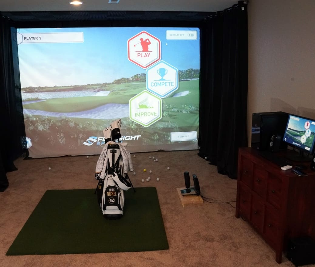 A complete golf simulator for home