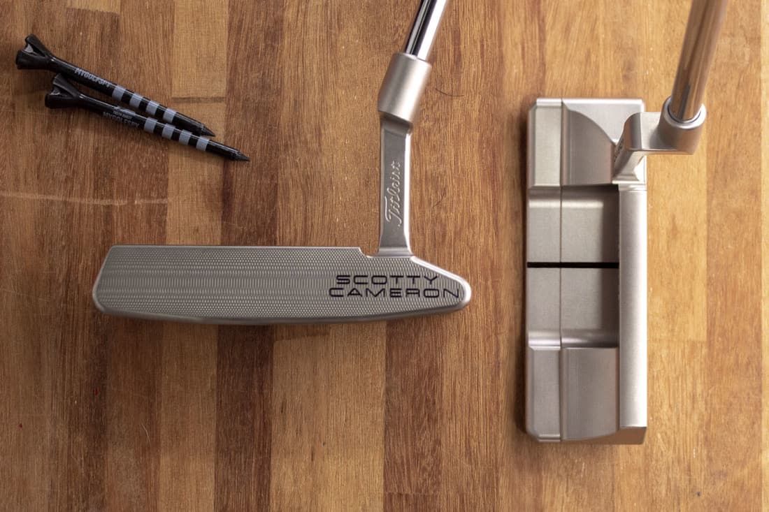A Scotty Cameron Squareback 2 putter, one of the best blade putters of 2020