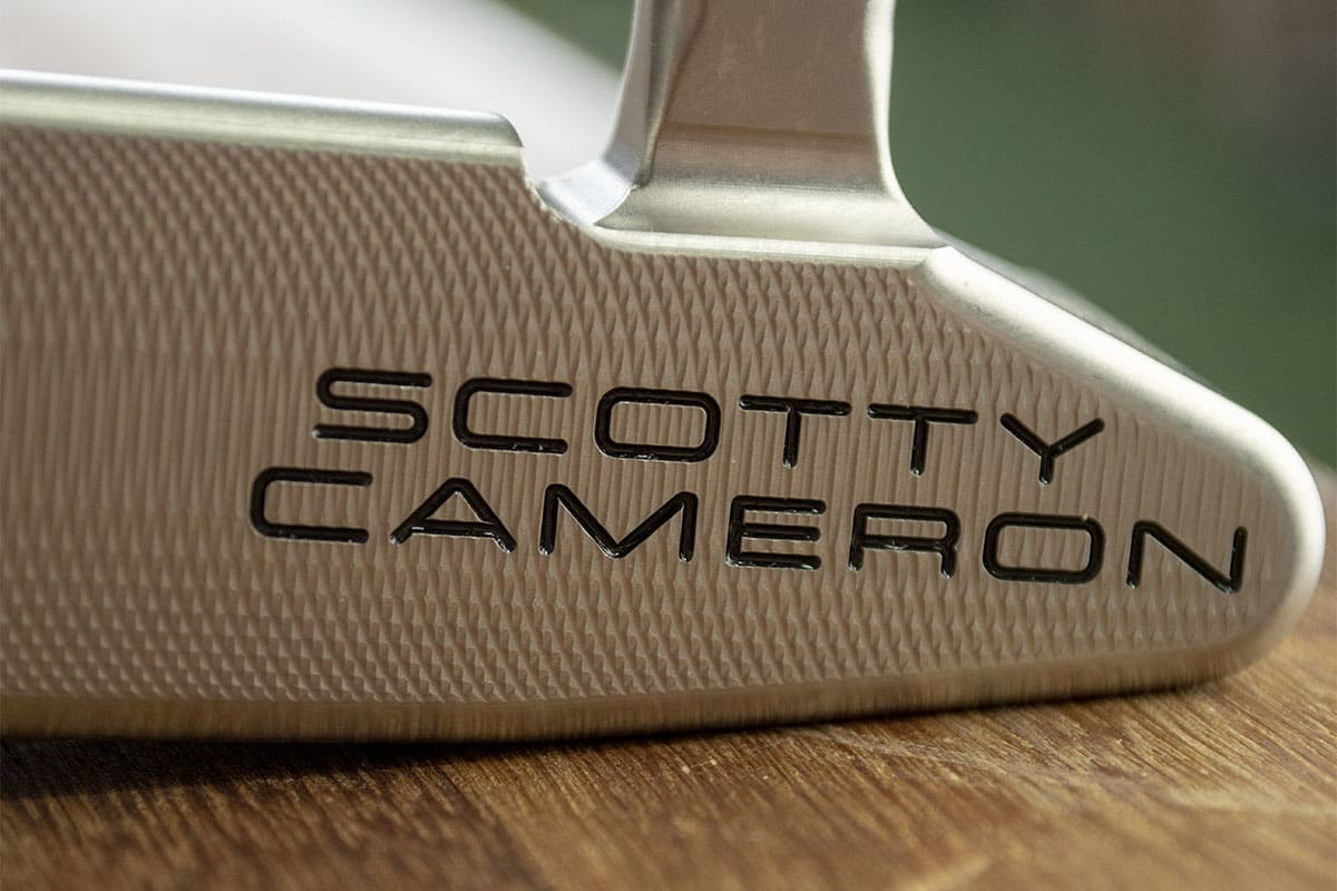 A Scotty Square putter, one of the best blade putters of 2020