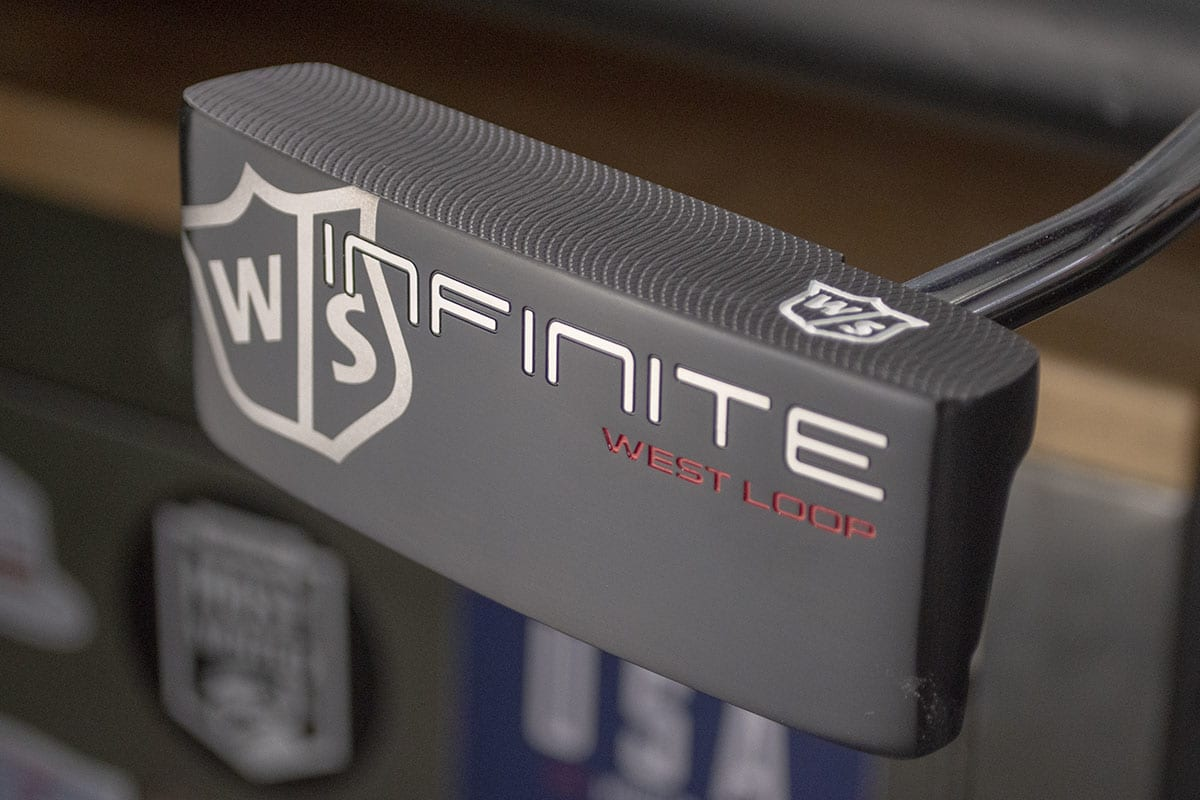 A Wilson West Loops putter, one of the best blade putters of 2020 closeup