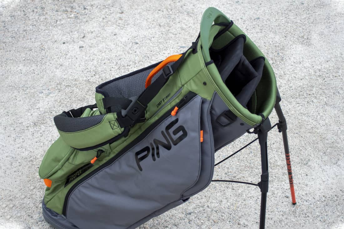 A green accented bag that is one of the best golf stand bags of 2020