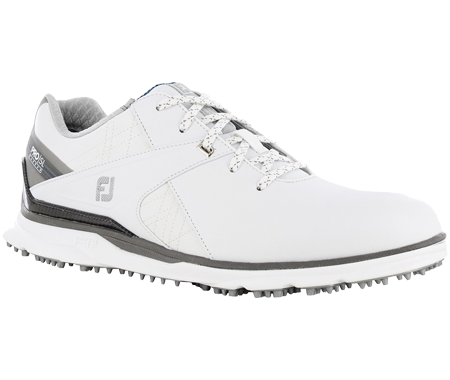 A Footjoy Pro SL Carbon shoe, one of the best spikeless golf shoes of 2020