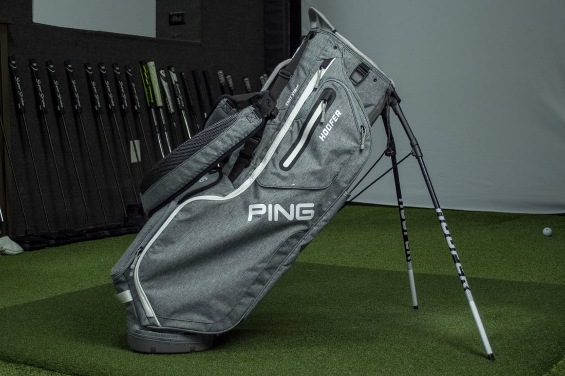 A light grey bag that is one of the best golf stand bags of 2020