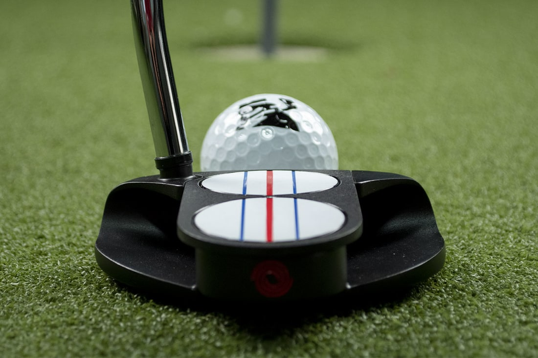 A long shot of a TT putter, one of the best 2020 mallet putters with a ball