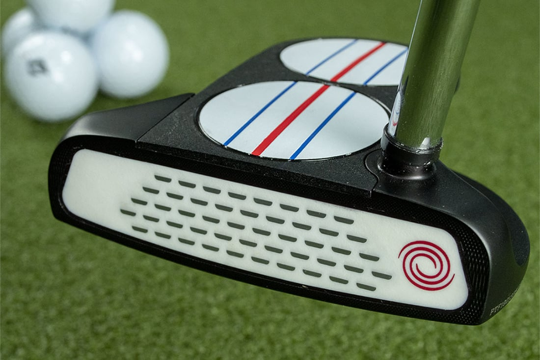 The TT putter, one of the best 2020 mallet putters next to a ball
