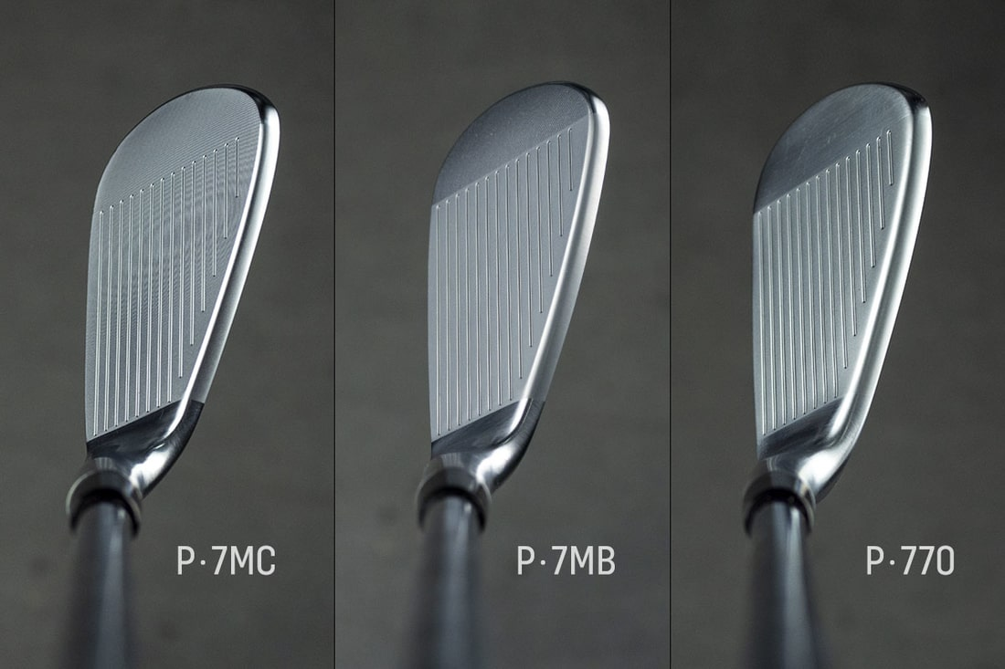 Three taylormade P770 Irons that will be Reviewed viewed from the top
