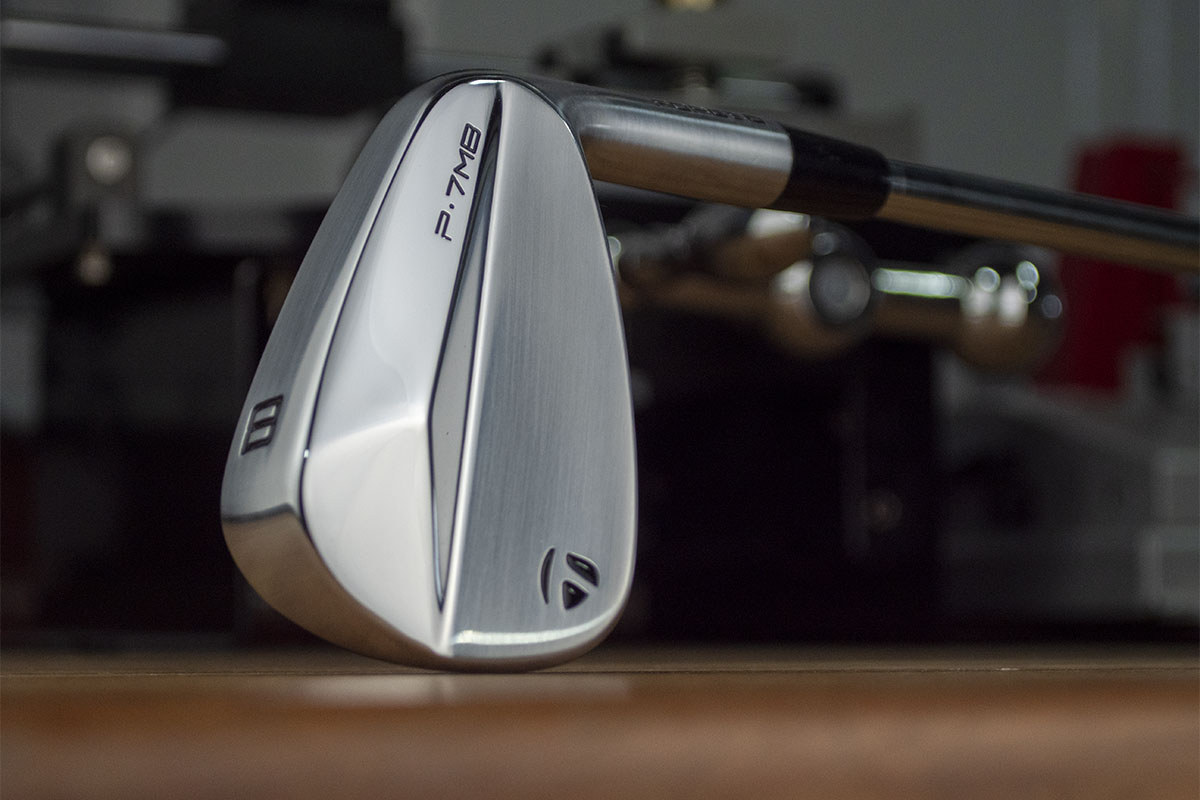 The Top of a TaylorMade P7MB iron that will be reviewed