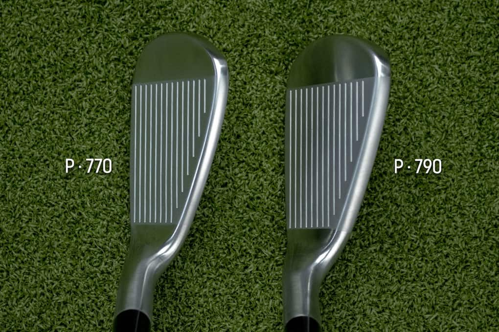 The top of Two TaylorMade P770 Irons waiting to be reviewed
