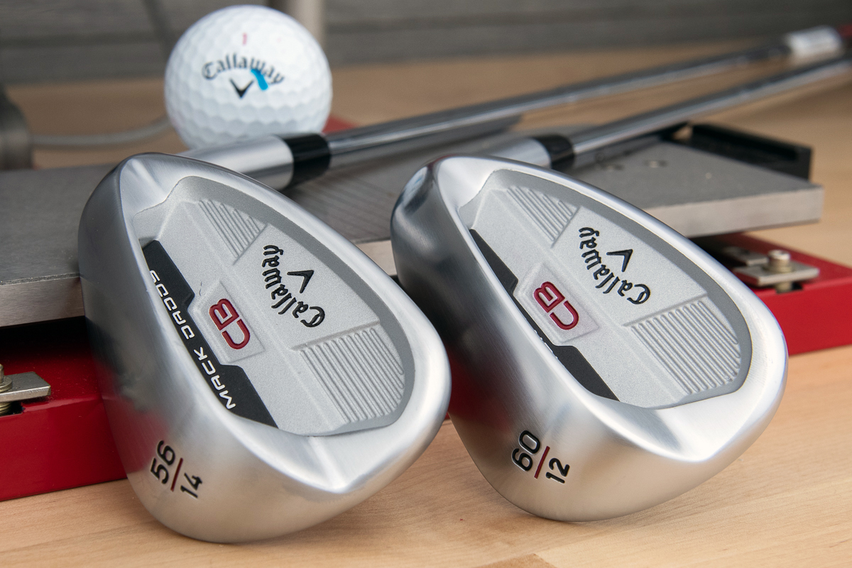 the Callaway Mack Daddy CB wedge in 56- and 60-degrees.