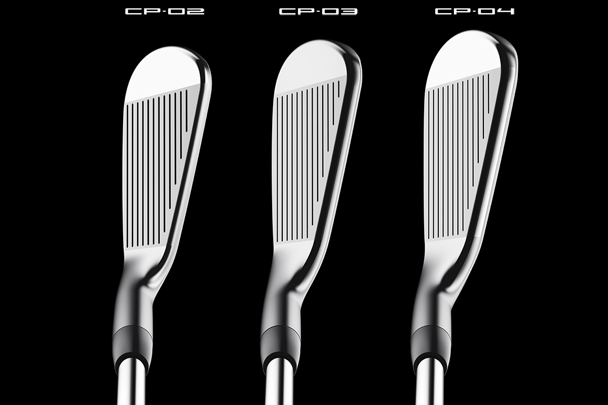A comparison of Titleist CNCPT Iron models at address