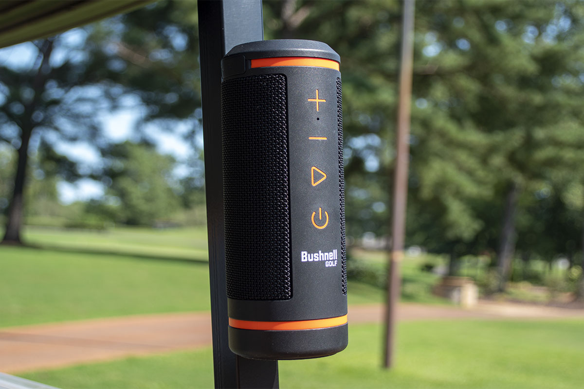 a photo of the Bushnell Wingman bluetooth speaker