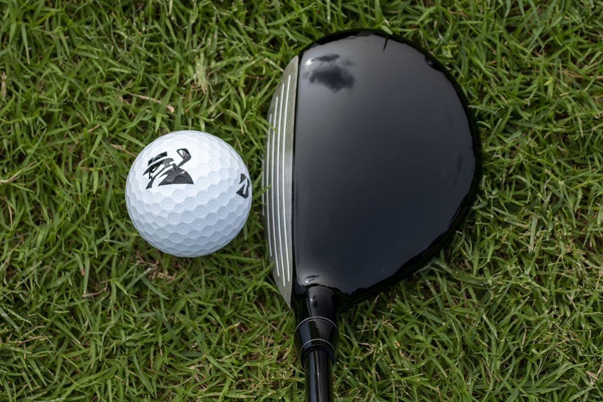 an address view of the Honma TR21 F Fairway Wood