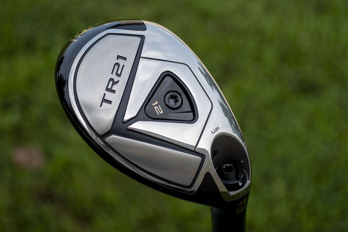 a view of the sole of the Honma TR21 H Hybrid