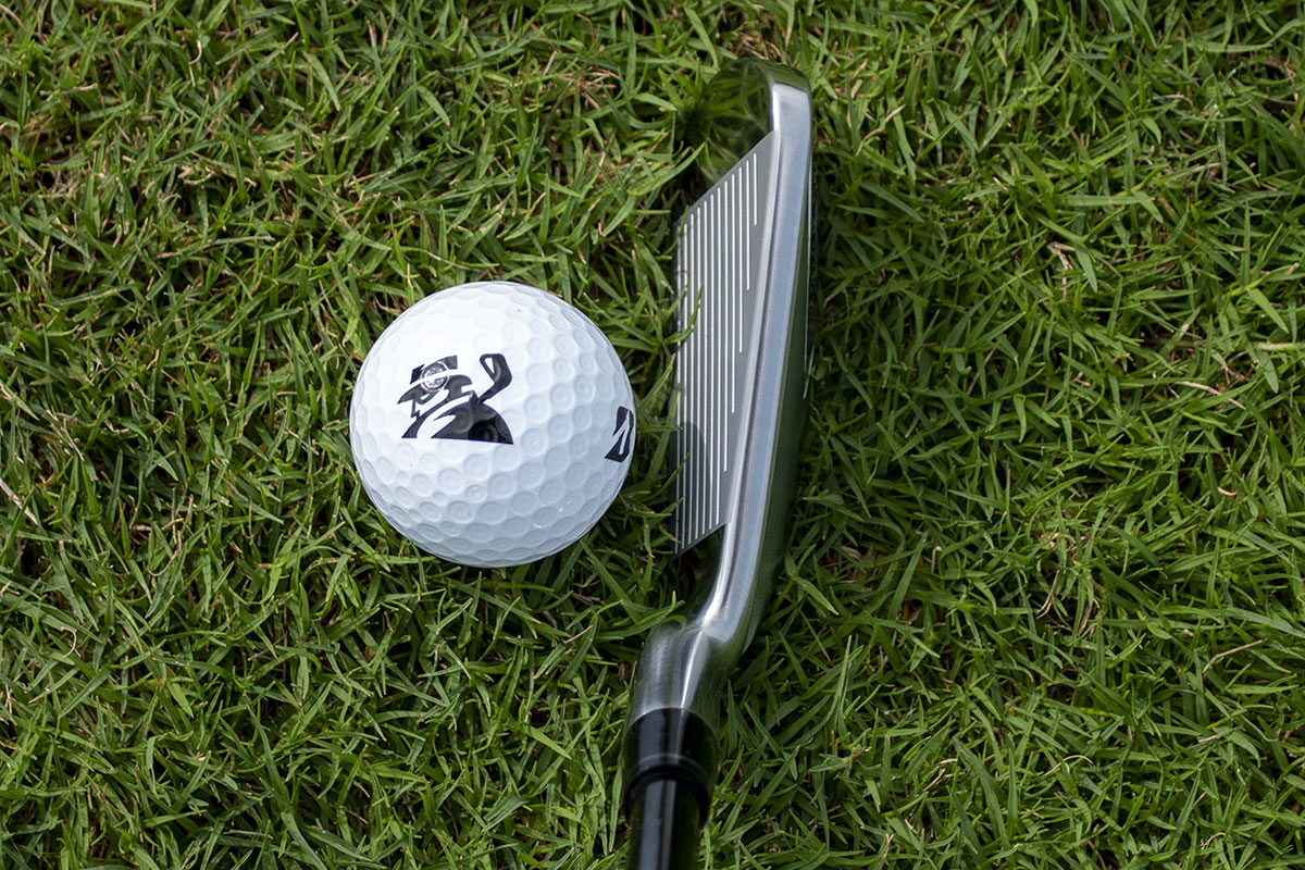 An address view of the Honma 2021 irons