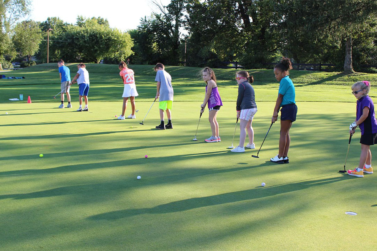 junior golf practice