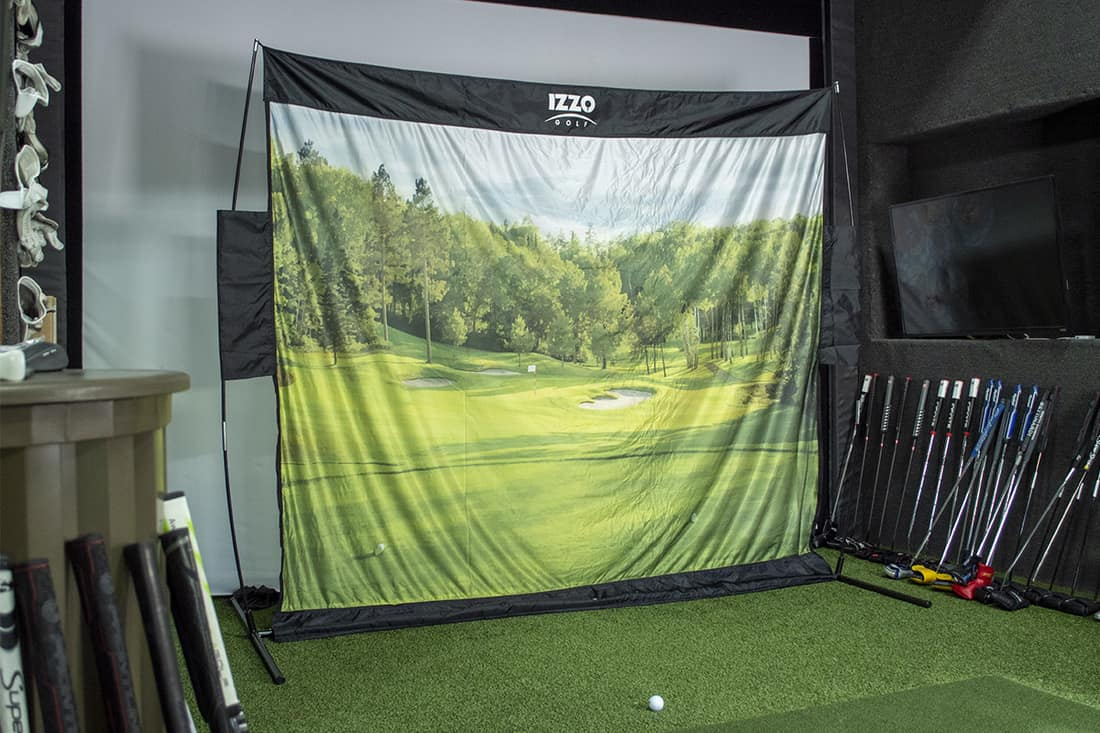 One of the best golf nets set up inside