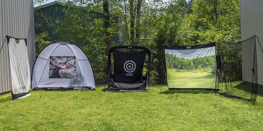 3 of the best golf nets set up outside