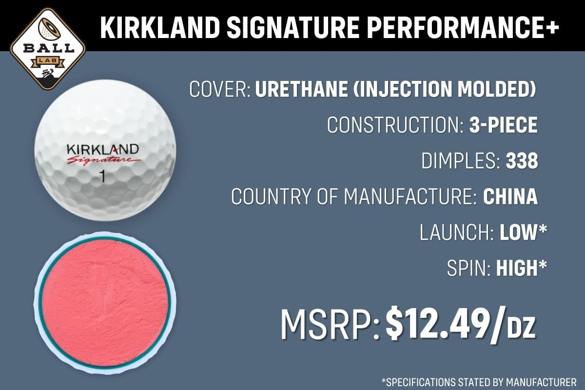 an overview of the costco kirkland signature performance+ golf ball