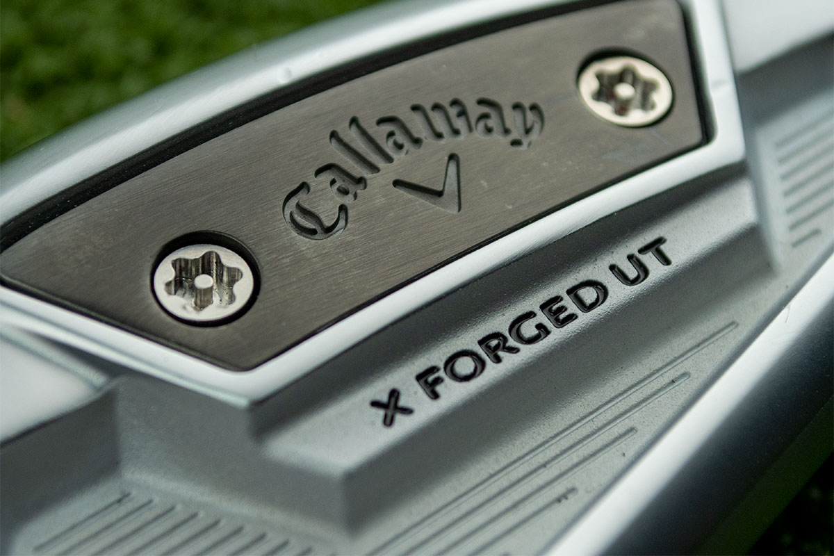 a photo of the cavity of the Callaway X Forged UT