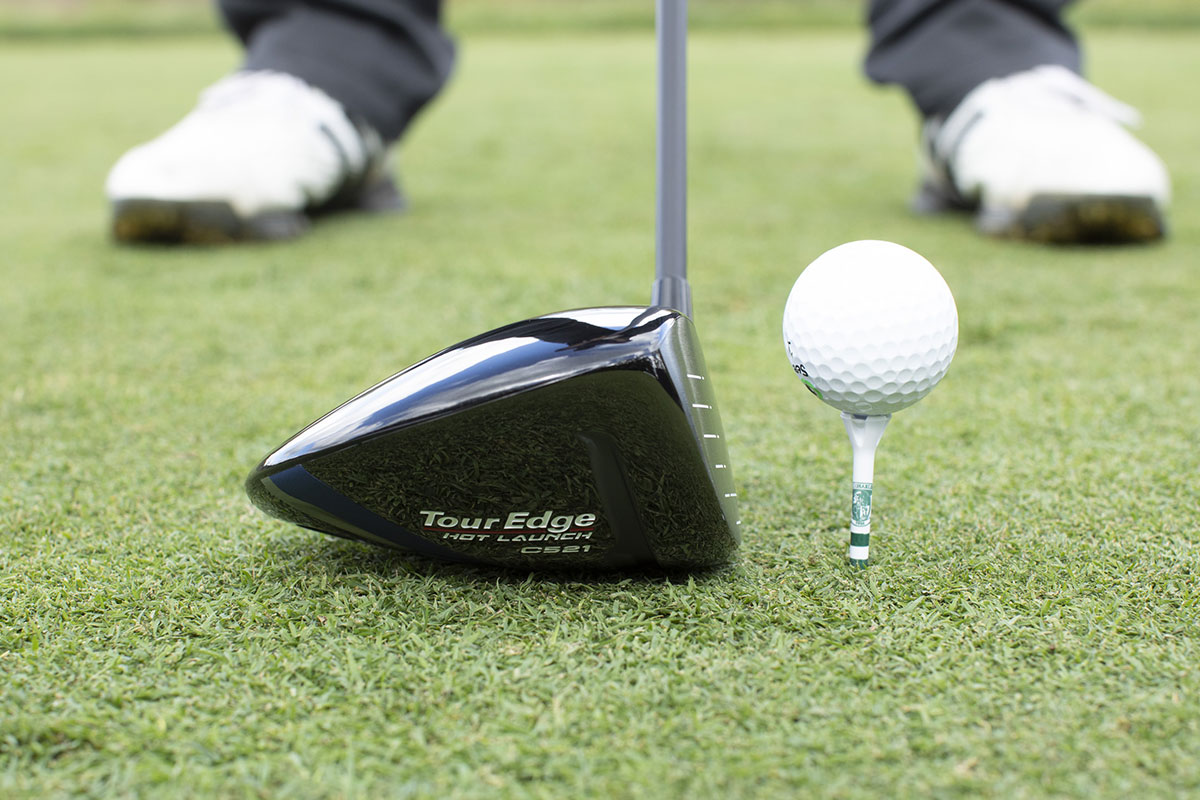 a toe view of the Tour Edge Hot Launch C521 driver
