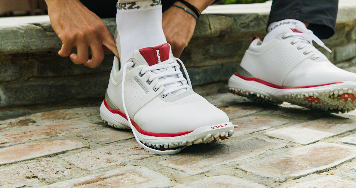 a photo of the sqairz golf shoe