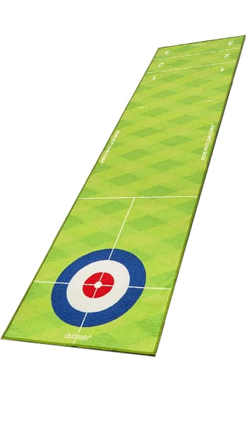 A Gosports Curling Mat, one of the best indoor putting mats