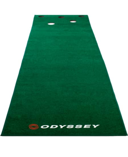 An Odyseey Mat, one of the best indoor putting mats