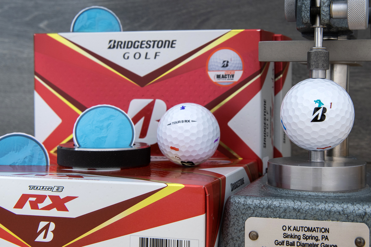 a photo of the bridgestone tour b rx golf ball
