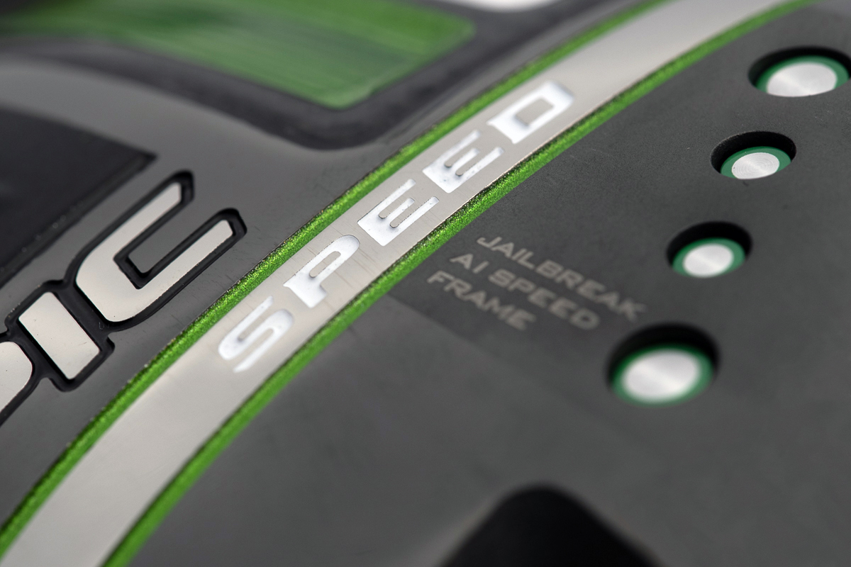 a close up photo of the sole of the Callaway Epic Speed Driver