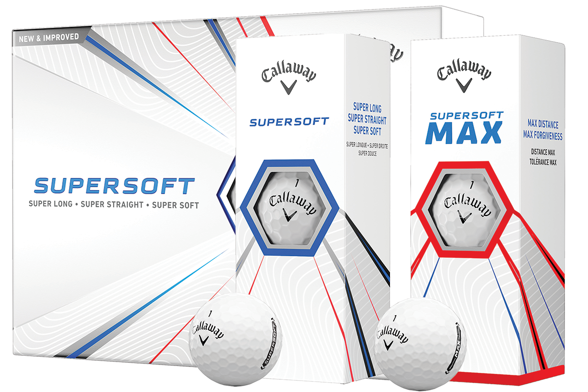 An image of the Callaway Supersoft and Supersoft MAX golf balls