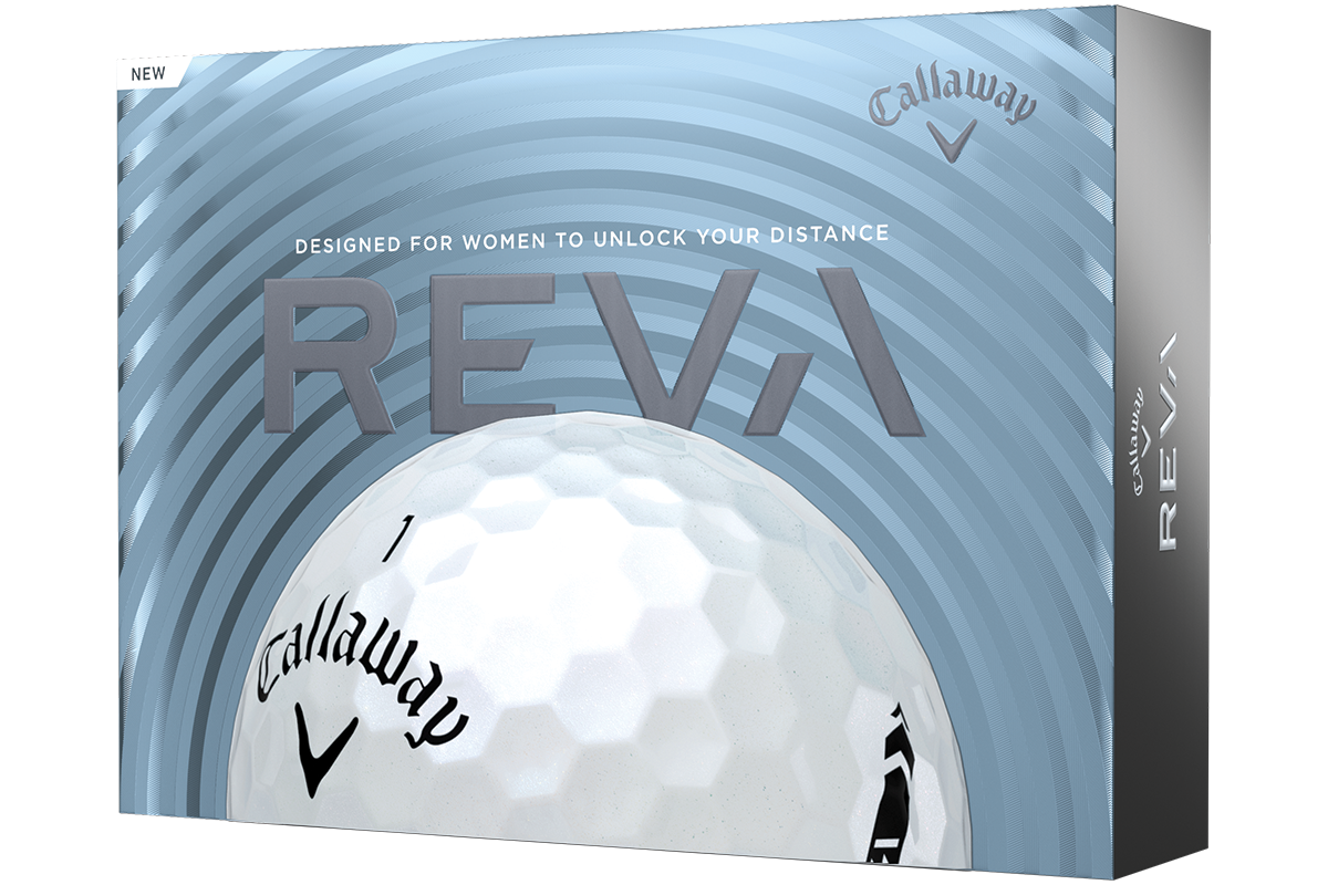 an image of the box of the Callaway REVA golf ball