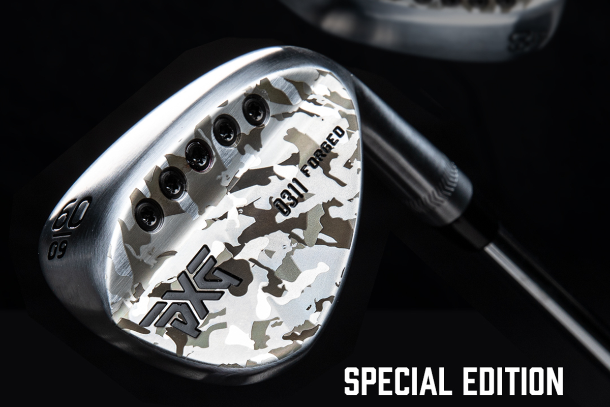 a photo of a PXG Special Edition Camo Forged wedge
