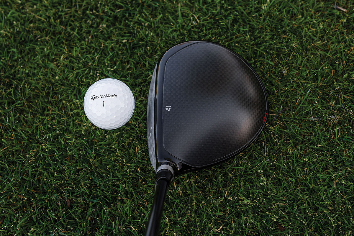 an address view of the TaylorMade 300 Mini Driver