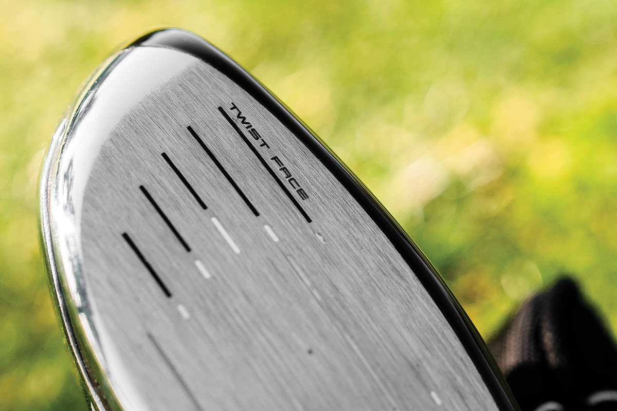 a photo showing the twist face technology in the TaylorMade 300 Mini Driver