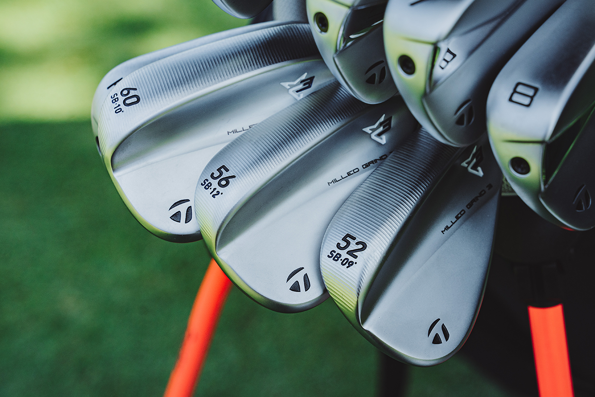 A photo of TaylorMade MG3 milled grind wedges
