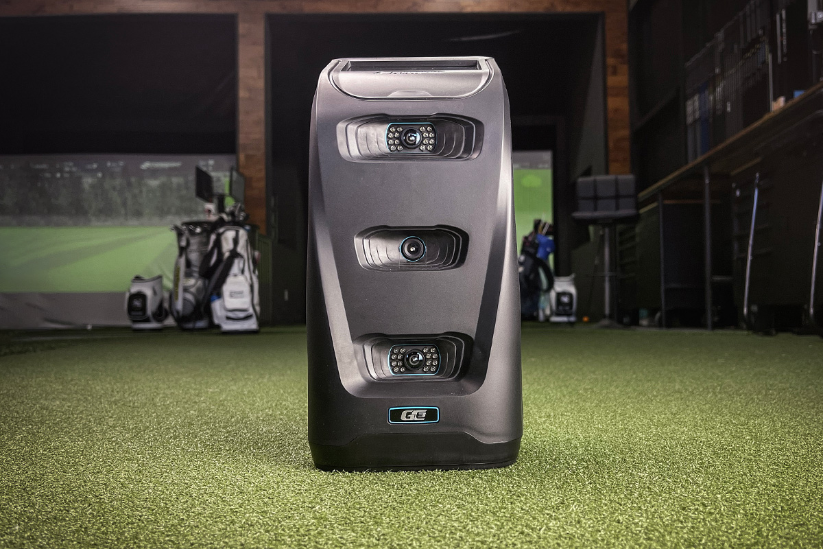 A photo of the Foresight GC3. The device is the same as the Bushnell Launch Pro.